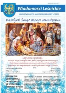 Wiadomości Leśnickie : bezpłatna gazeta samorządowa Gminy Leśnica 2012, nr 4.