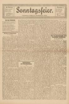 Sonntagsfeier. Unterhaltungs-Beilage des Oberschlesischen Kurier, 1922, Nr. 9