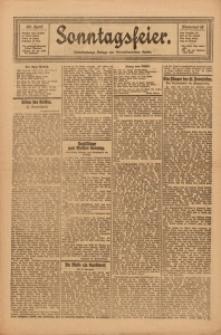 Sonntagsfeier. Unterhaltungs-Beilage des Oberschlesischen Kurier, 1922, Nr. 18