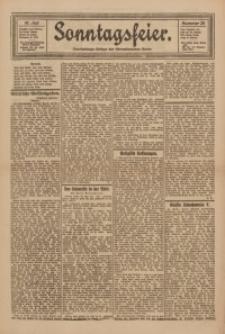 Sonntagsfeier. Unterhaltungs-Beilage des Oberschlesischen Kurier, 1922, Nr. 29