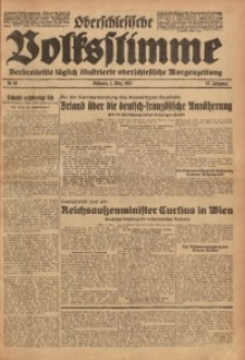 Oberschlesische Volksstimme, 1931, Jg. 57, Nr. 63