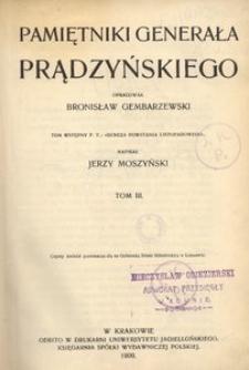 Pamiętniki generała Prądzyńskiego. T. 3