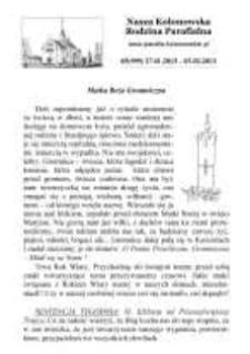 Nasza Kolonowska Rodzina Parafialna 2013, nr 5 (999).