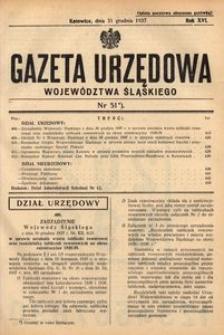 Gazeta Urzędowa Województwa Śląskiego, 1937, R. 16, nr 51
