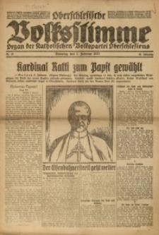 Oberschlesische Volksstimme, 1922, Jg. 48, Nr. 37