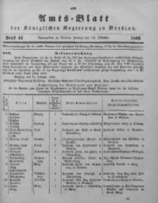 Amts-Blatt der Königlichen Regierung zu Breslau, 1893, Bd. 84, St. 42