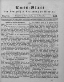 Amts-Blatt der Königlichen Regierung zu Breslau, 1893, Bd. 84, St. 45