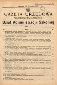 Dział Administracji Szkolnej, 1937, R. [14], nr 1