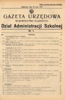 Dział Administracji Szkolnej, 1937, R. [14], nr 5