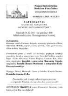 Nasza Kolonowska Rodzina Parafialna 2013, nr 48 (1042).