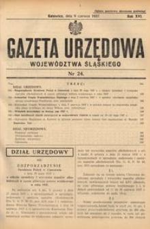 Gazeta Urzędowa Województwa Śląskiego, 1937, R. 16, nr 24