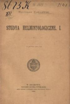 Studya helmintologiczne. 1