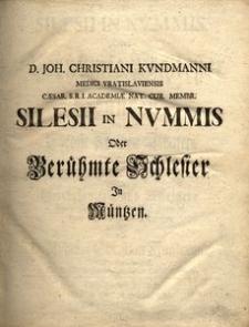 Silesii in nvmmis oder Berühmte Schlesier in Müntzen [...]