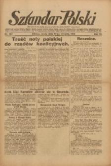 Sztandar Polski, 1921, R. 3, Nr. 187