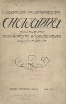 Chowanna, 1929, R. 1