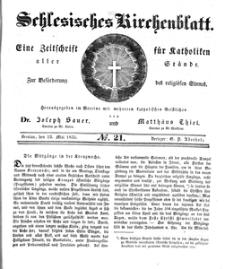 Schlesisches Kirchenblatt, 1835, Jg. 1, nr 21