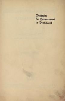 Geschichte der Freimaurerei in Deutschland. Bd. 2
