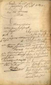 Korespondencja różnych osób z 23 lutego 1870 r.