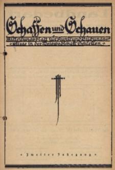 Schaffen und Schauen, 1925, Jg. 2, Nr. 3