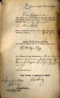 Korespondencja różnych osób z 10 października 1870 r.