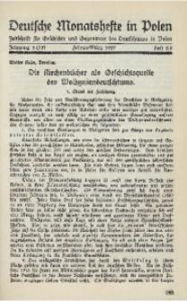 Deutsche Monatshefte in Polen, 1937, Jg. 3 (13), Heft 8/9