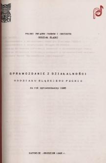 Sprawozdanie z działalności Oddziału Śląskiego Polskiego Związku Chórów i Orkiestr za rok sprawozdawczy 1995