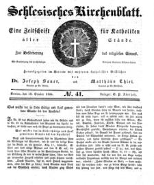 Schlesisches Kirchenblatt, 1835, Jg. 1, nr 41