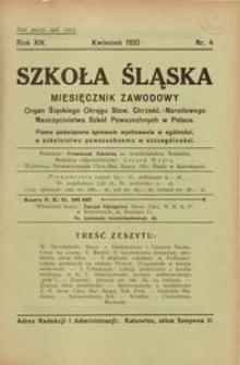 Szkoła Śląska, 1935, R. 14, nr 4