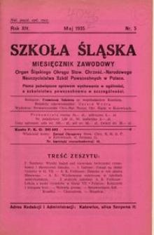 Szkoła Śląska, 1935, R. 14, nr 5