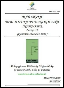 Bytomska Biblioteka Pedagogiczna. Informator. Zeszyt 15