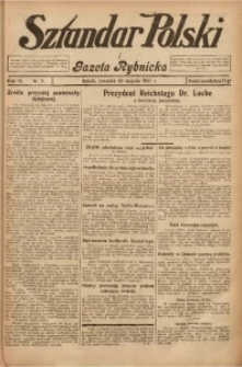 Sztandar Polski i Gazeta Rybnicka, 1927, R. 9, Nr. 9