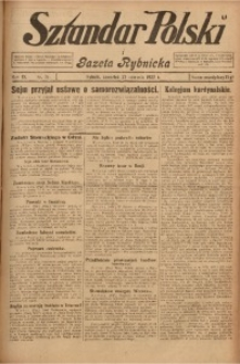 Sztandar Polski i Gazeta Rybnicka, 1927, R. 9, Nr. 71