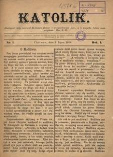 Katolik, 1868, R. 1, nr 1