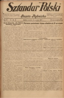 Sztandar Polski i Gazeta Rybnicka, 1927, R. 9, Nr. 105