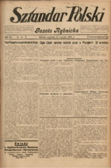 Sztandar Polski i Gazeta Rybnicka, 1927, R. 9, Nr. 111