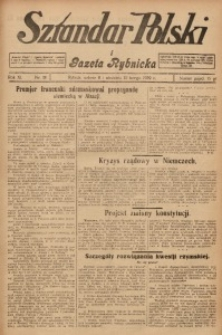 Sztandar Polski i Gazeta Rybnicka, 1929, R. 11, Nr. 18