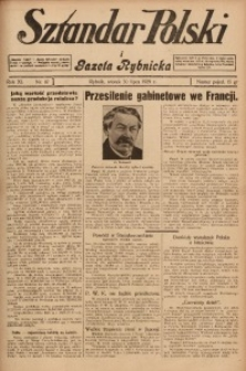 Sztandar Polski i Gazeta Rybnicka, 1929, R. 11, Nr. 87