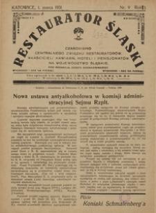 Restaurator Śląski, 1931, R. 5, nr 9