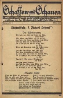 Schaffen und Schauen, 1924, Jg. 1, Nr. 4