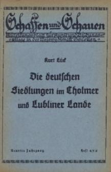 Schaffen und Schauen, 1933, Jg. 9, Nr. 4/5/6