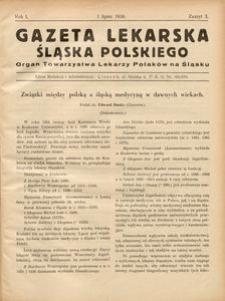 Gazeta Lekarska Śląska Polskiego, 1936, R. 1, z. 3