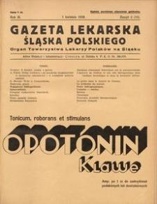 Gazeta Lekarska Śląska Polskiego, 1938, R. 3, z. 2