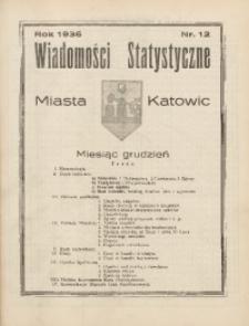 Wiadomości Statystyczne Miasta Katowic, 1936, nr 12