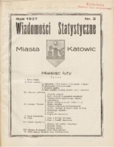 Wiadomości Statystyczne Miasta Katowic, 1937, nr 2