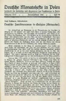 Deutsche Monatshefte in Polen, 1935, Jg. 1 (11), Heft 7/8