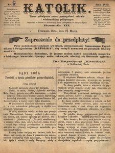 Katolik, 1870, R. 3, nr 12