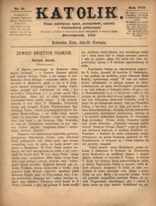 Katolik, 1870, R. 3, nr 18