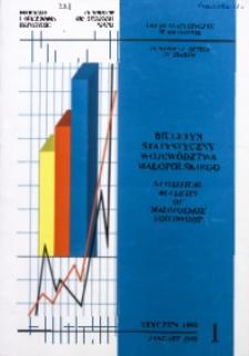 Biuletyn Statystyczny województwa małopolskiego, 1999, nr 1