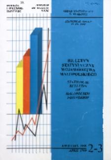 Biuletyn Statystyczny województwa małopolskiego, 1999, nr 2/3
