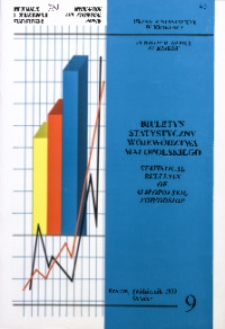Biuletyn Statystyczny województwa małopolskiego, 1999, nr 9